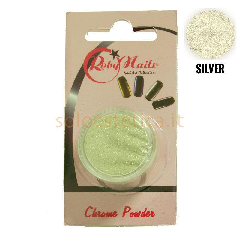Polvere chrome silver 98101 - Smalto a specchio polvere ...