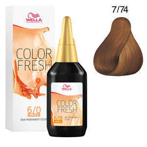 Color Fresh 7/74 biondo medio sabbia ramato Wella 75 ml
