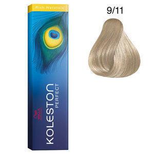 Koleston Perfect 9/11 Rich Naturals 60 ml Wella biondo chiarissimo cenere intenso