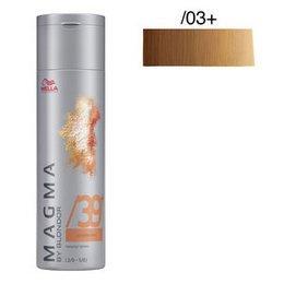 Magma Pigmented Lightener /03+ naturale dorato intenso Wella 120 gr