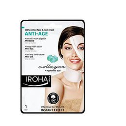 Anti-Age Iroha Maschera Anti-eta' Viso e Collo Collagene + Acido Ialuron