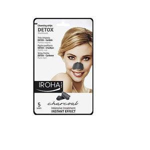 Detox Charcoal Iroha Maschera Strips di pulizia punti Neri al Carbone 5 pz