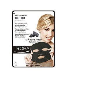 Detox Charcoal Iroha Maschera Viso Anti Imperfezioni al Carbone in Tessuto