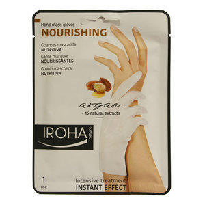 Nourishing Iroha Guanti Maschera Nutrienti Argan 1 Paio