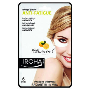 Anti-Fatigue Iroha Patchs Hidrogel Antifatica Occhi Vitamina C. 6 pz.