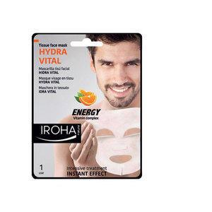 Hydra Vital Iroha Maschera Idratante Uomo Vitamin Complex in Tessuto