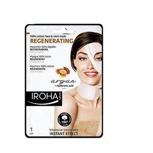 Regenerating Iroha Maschera Rigenerante Viso e Collo Argan + Acido Ialuronico in tessuto