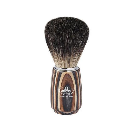 Pennello da barba in tasso Nero – legno multistrato Omega 6752