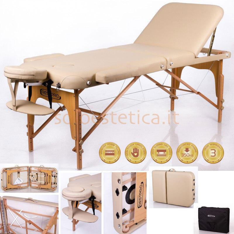 Lettino Massaggio Veneto.Lettino Da Massaggio Restpro Memory 3 Beige
