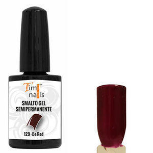 TN Smalto Gel Semipermanente nr. 129 Be Red 14 ml. Unghie Timi Nails