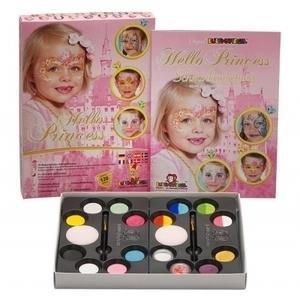 Set Profi Aqua Hello Princess 14 Colori+Glitter+Pennelli+Spugne Eulen