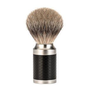 Pennello da Barba in Tasso con Manico Nero Muhle Rocca