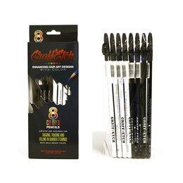 Matite Tattoo Black White Kit 8 Pz.