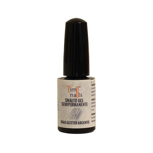 TN Smalto Gel Semipermanente Xmax Glitter Argento 5 ml.