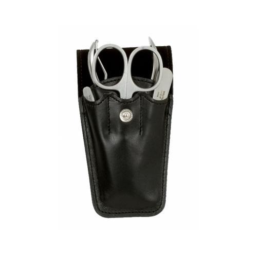 Set Manicure Tascabile Pelle Nera Nichelato 90126N