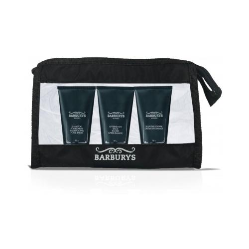 Travel Set Barburys Shampoo Barba+Crema Rasatura+Dopobarba 50 ml.