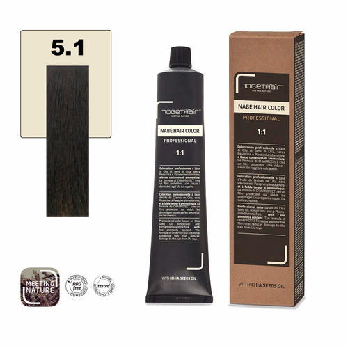 Nabe' Hair Color nr. 5.1 Castano Chiaro Cenere Togethair 100 ml
