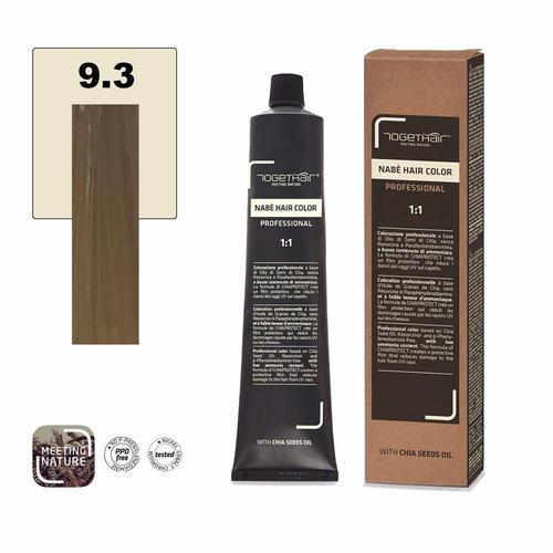 Nabe' Hair Color nr. 9.3 Biondo Chiarissimo Dorato Togethair 100 ml
