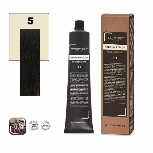 Nabe' Hair Color nr. 5 Castano Chiaro Naturale Togethair 100 ml