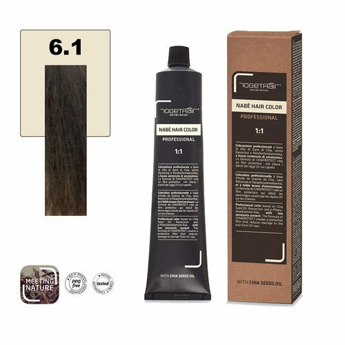 Nabe' Hair Color nr. 6.1 Biondo Scuro Cenere Togethair 100 ml