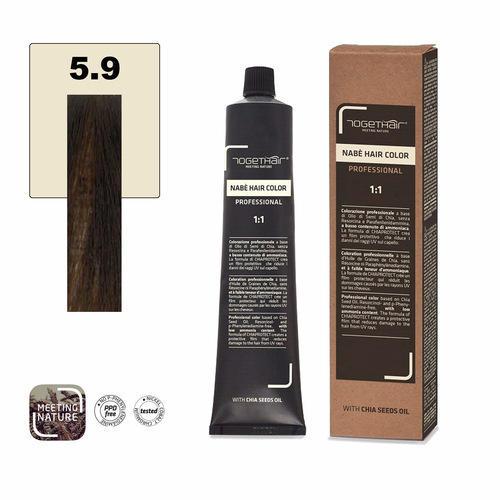 Nabe' Hair Color nr. 5.9 Castano Chiaro Marrone Togethair 100 ml
