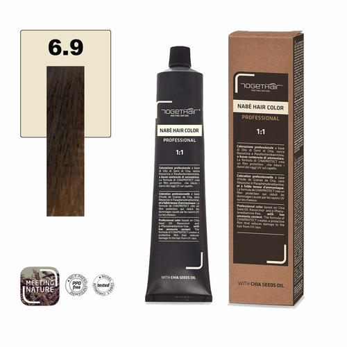 Nabe' Hair Color nr. 6.9 Biondo Scuro Marrone Togethair 100 ml