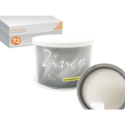 Cera epilazione liposolubile Zinco Wax 72 vasi da 400 ml cad.