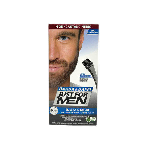 Gel colorante Barba e Baffi Just For Men Castano Medio 14 + 14 gr