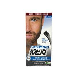 Gel colorante Barba e Baffi Just For Men Castano Medio 14 + 14 gr