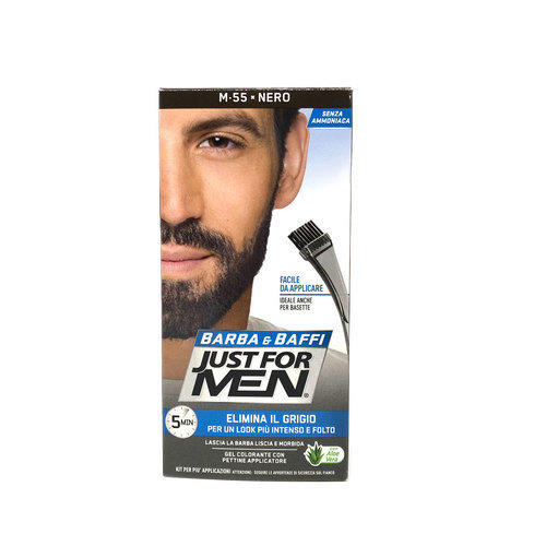 Gel colorante Barba e Baffi Just For Men Nero 14 + 14 gr
