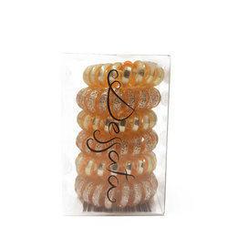Kit Elastico Spirale Oro Rosa Dessata 6 Pz