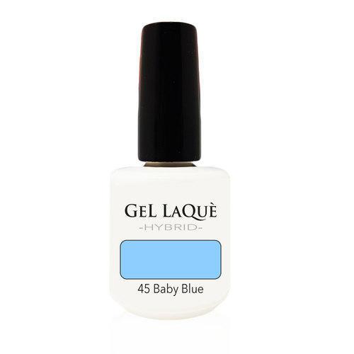 Smalto Gel Gel Laquè Hybrid 45 Baby Blue 15 ml.