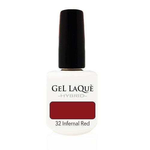 Smalto Gel Gel Laquè Hybrid 32 Infernal Red 15 ml.