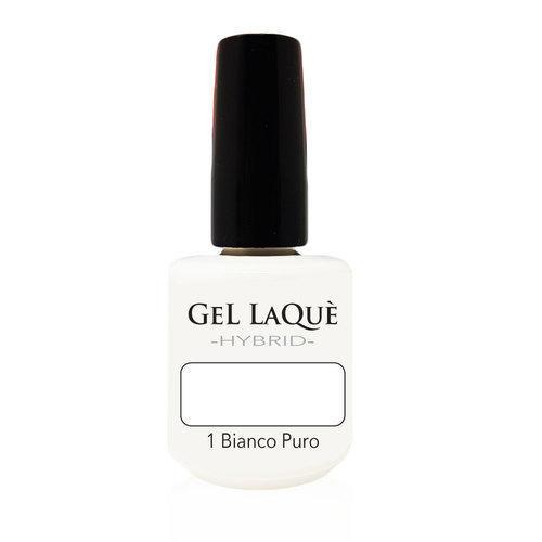 Smalto Gel Gel Laqu� Hybrid 1 Bianco Puro 15 ml.