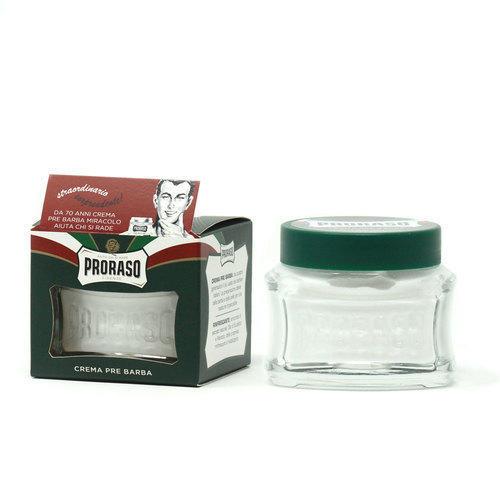 Crema Pre Barba Eucalipto e Mentolo Proraso Linea Verde vasetto 100 ml.