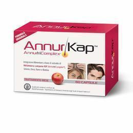 AnnurKap Integratore Alimentare Per la ricrescita dei capelli 60 capsule