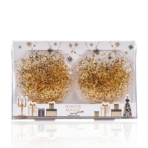 Dischi in gel con glitter oro refrigeranti Magic Winter