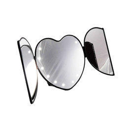 Specchio portatile a forma di cuore con luci led Heart Mirror