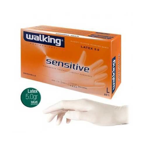 Guanti Sensitive Walking in puro lattice Large 100 pz.