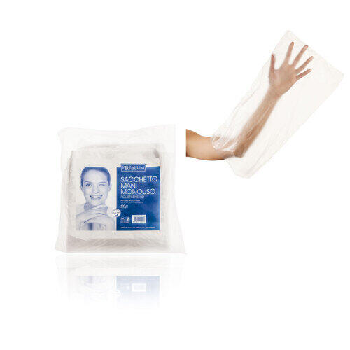 Sacchetto Mani Monouso in Polietilene 48x24 Conf. 100 Pz