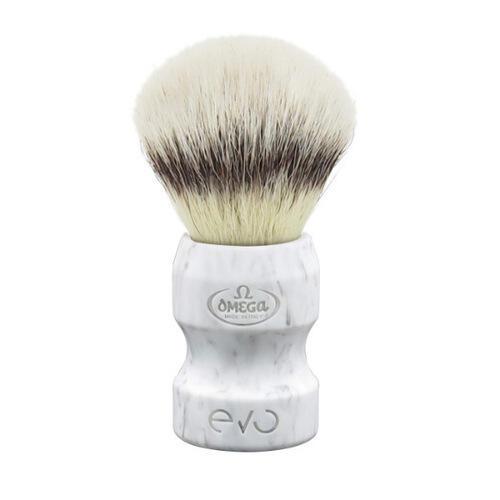 Pennello da Barba Fibra Sintetica Omega EVO Marble il Duca E1858