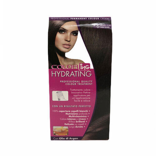 Kit Colorazione Permanente Hydrating Biondo Scuro N° 6
