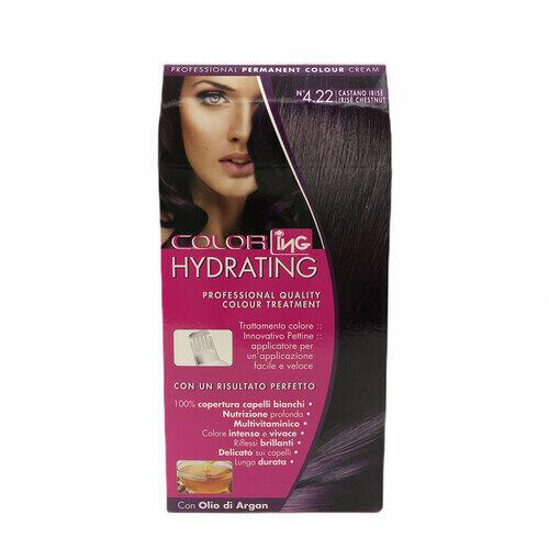 Kit Colorazione Permanente Color Hydrating Ing 4.22 Castano Irisè
