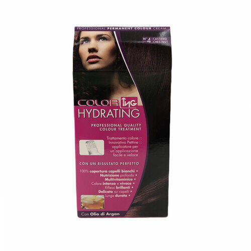 Kit Colorazione Permanente Hydrating Castano N° 4