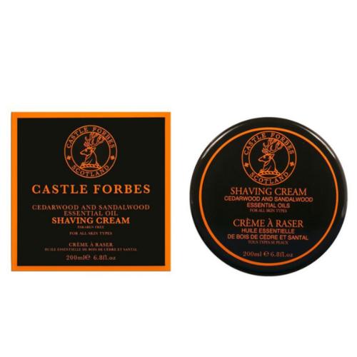 Crema da Barba Cedro e Sandalo Castle Forbes 200 ml