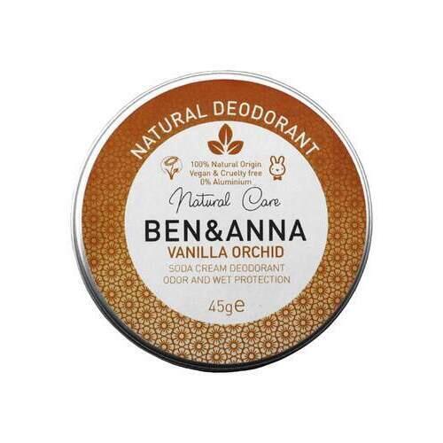 Deodorante in Crema Vaniglia Orchid Ben e Anna Vasetto 45 g