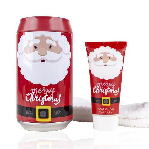 Confezione Regalo Merry Christmas Crema Piedi 60 ml Calzini Salvadanaio
