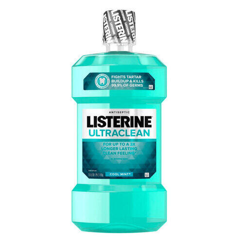 Colluttorio Listerine Ultraclean Cool Mint 1,5 Lt