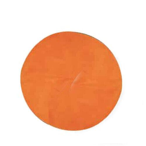 Tappetino circolare solarium Arancio busta 50 pz. ACC453