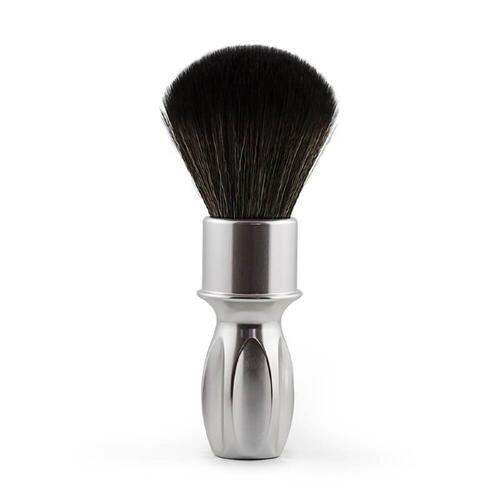 Pennello da Barba Syntetic Silver Noir  Plissoft Razorock 24 mm